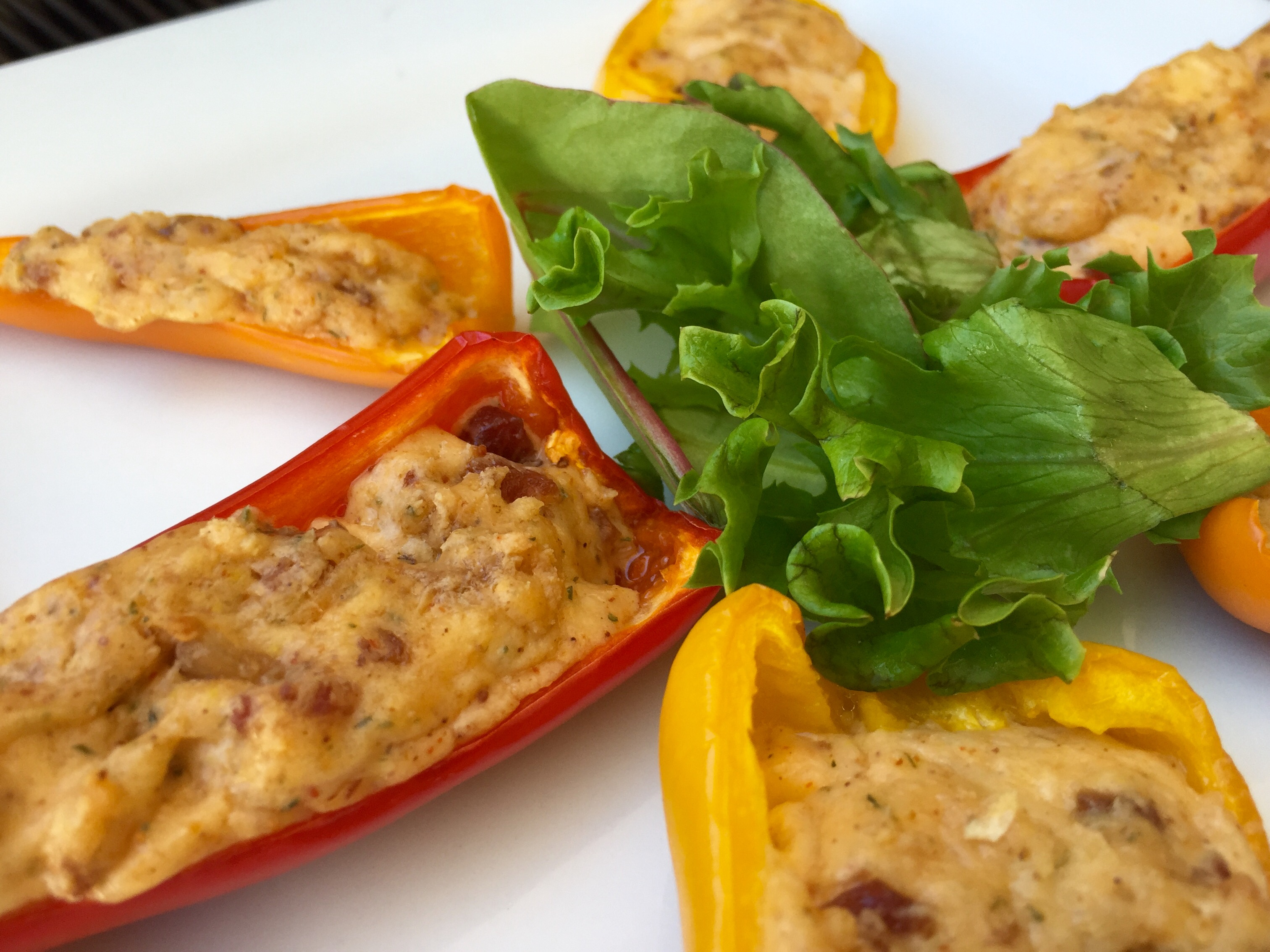 Low Carb Cheesy Pepper Bites