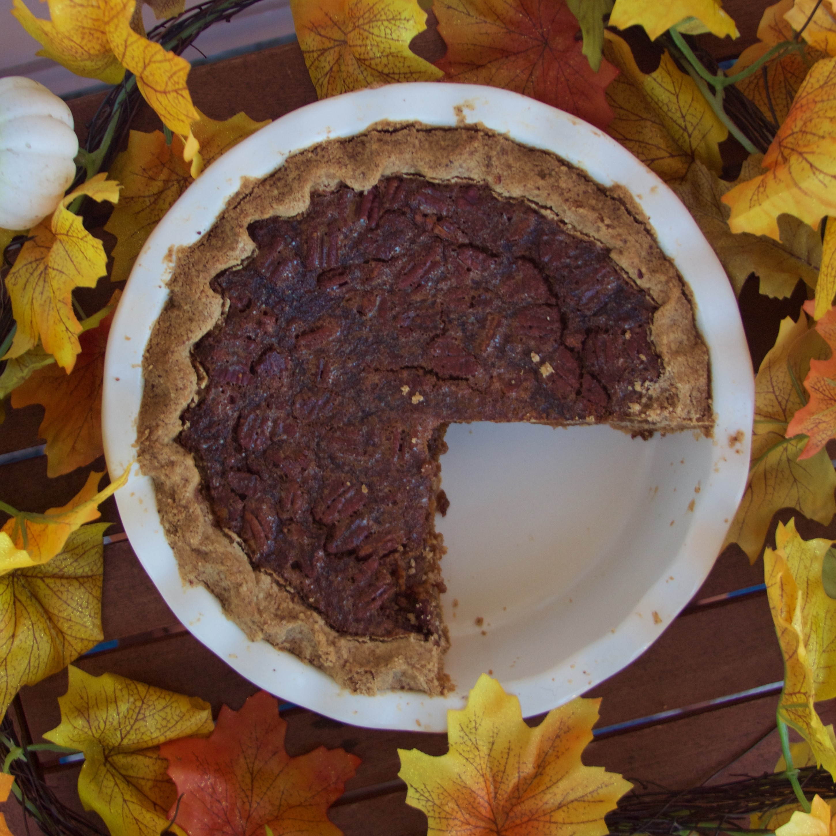 Brandied Pumpkin and Pecan Pie with Pecan Shortbread Crust
